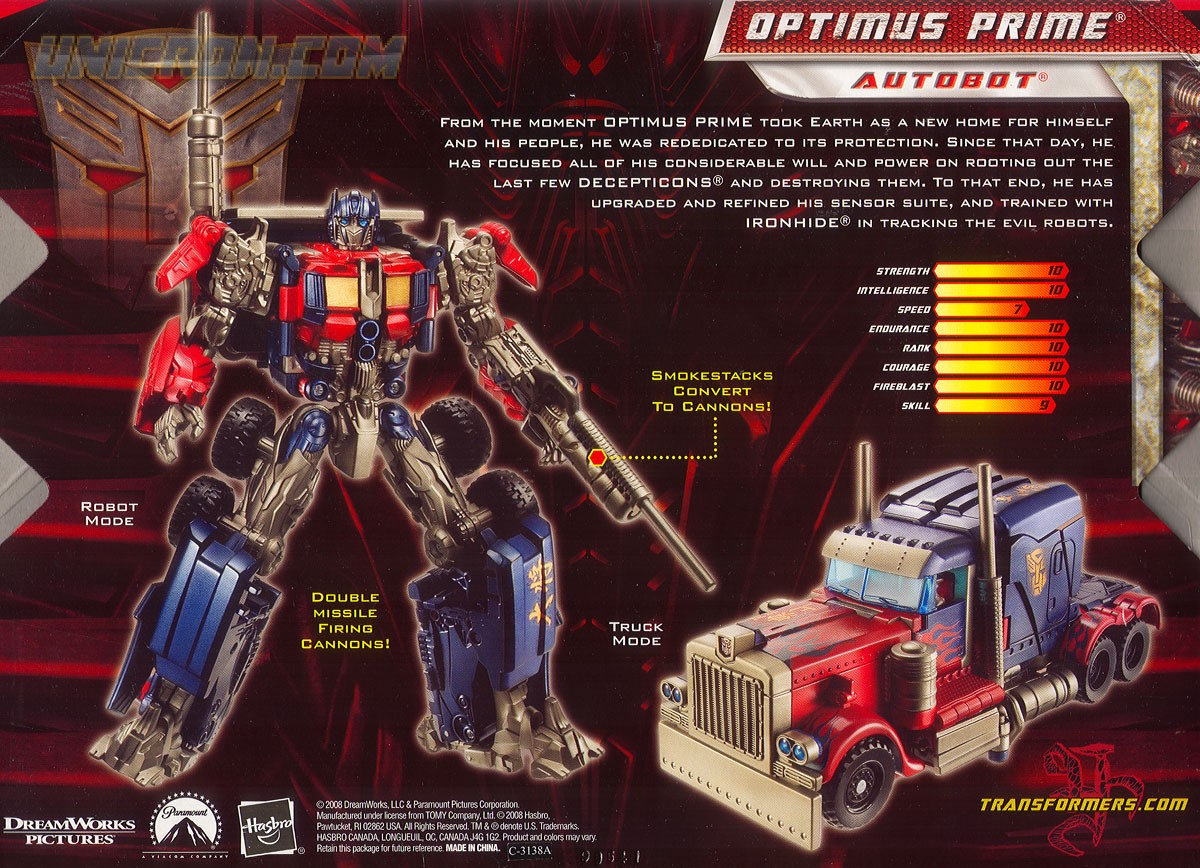Transformers 2 Revenge of the Fallen Optimus Prime ...