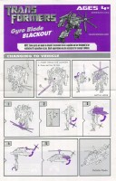 Movie - Blackout - Gyro Blade - Instructions