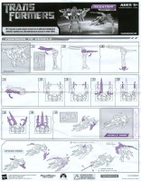 Movie - Megatron (voyager, metallic version, Best Buy exclusive) - Instructions
