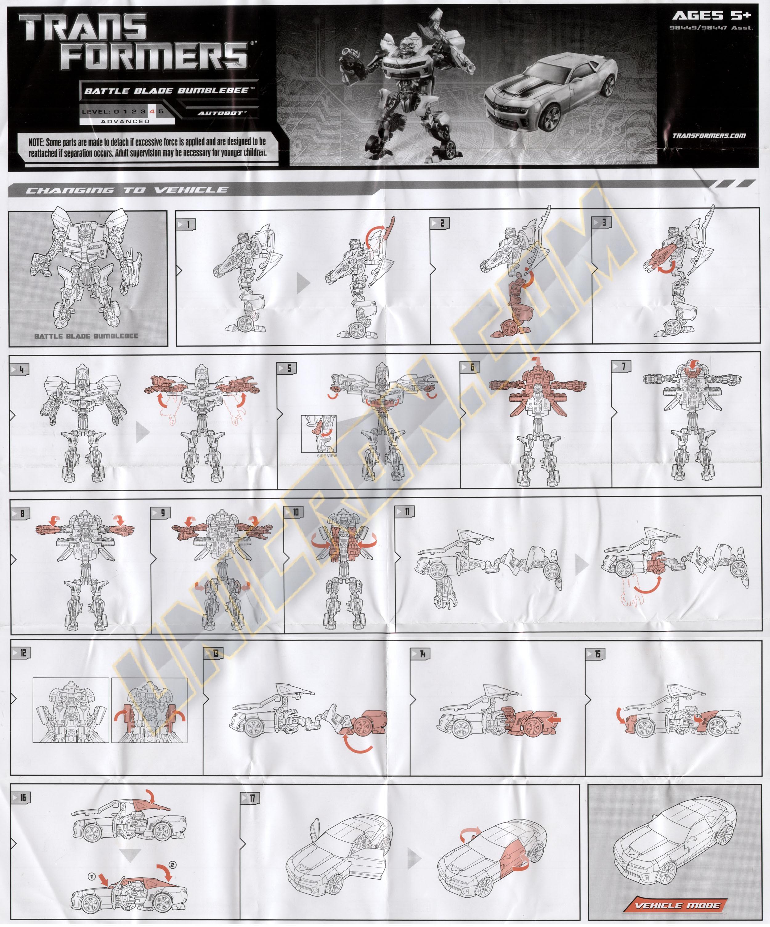 Transformers 3 dark of the moon bumblebee (deluxe) transformers.
