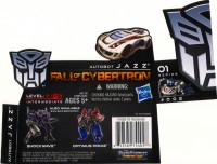 Generations - Jazz (Fall of Cybertron) - Package art