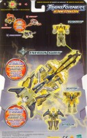 Energon - Energon Saber (Minicons Wreckage, Scattor, Skyboom) - Package art