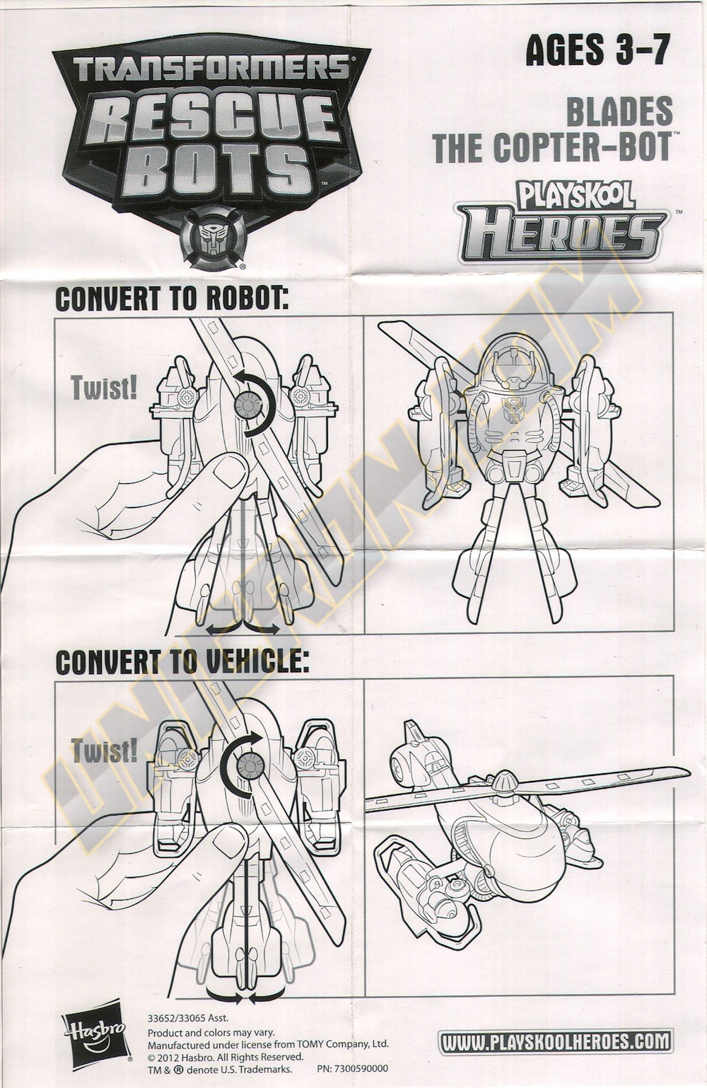 Transformers Rescue Bots Blades The Copter Bot