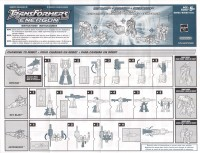 Energon - Race and Space Team Mini-con 6-pk (Dirt Boss, Downshift, Mirage, Astroscope, Payload, Sky Blast) - Instructions