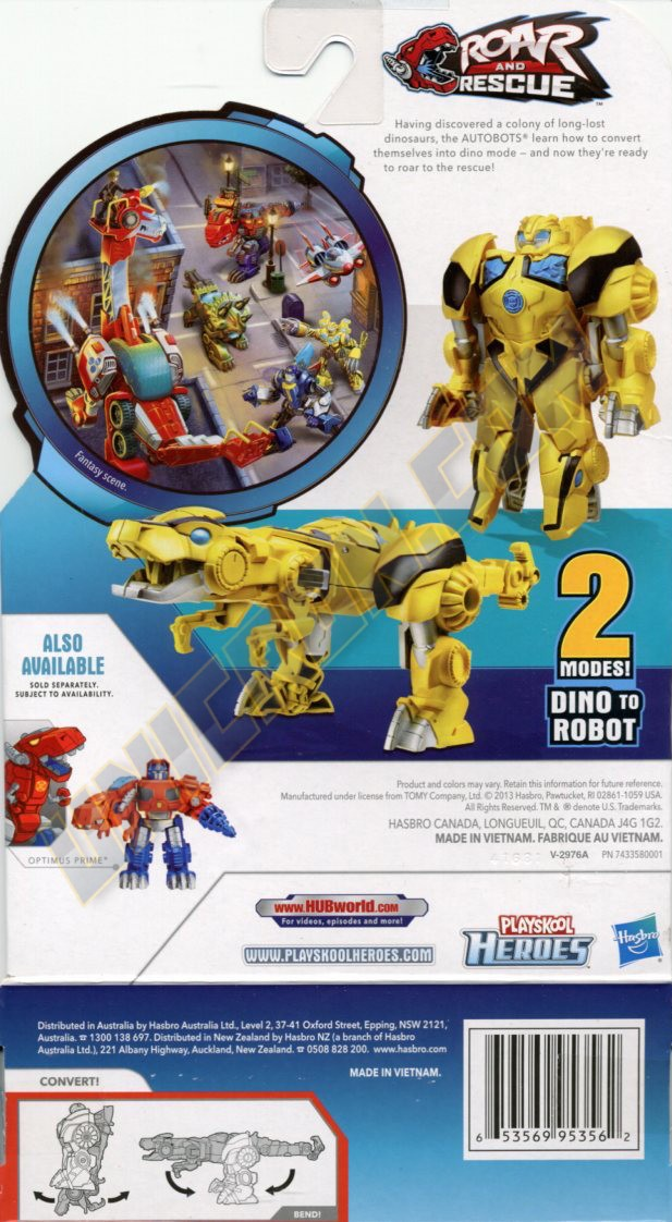 Transformers Rescue Bots Bumblebee (Rescan 2 - Dino) Instructions