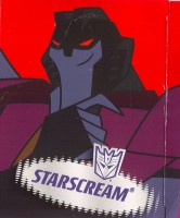 Animated - Starscream - Package art