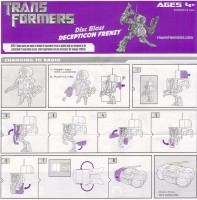 Movie - FAB Disc Blast Decepticon Frenzy - Instructions