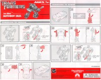 Movie - FAB Ion Blast Autobot Jazz - Instructions