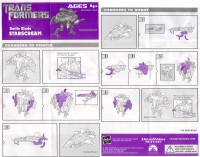Movie - Starscream - Battle Blade - Instructions