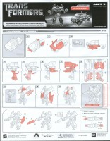 Transformers Movie Ironhide Transformers Instructions