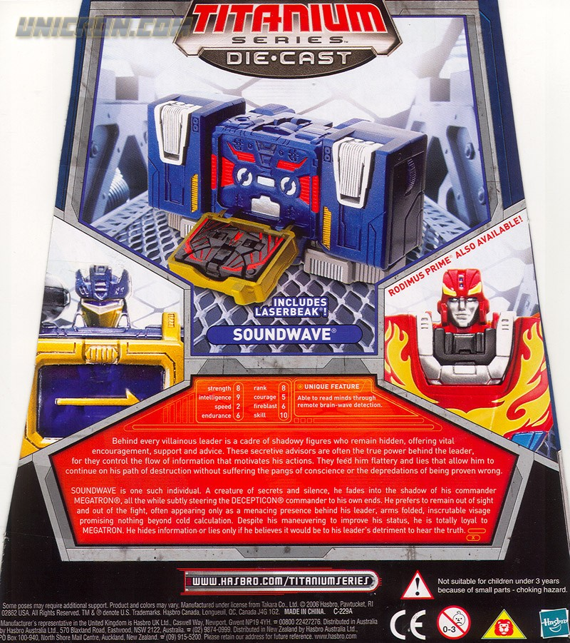 Transformers Titanium Soundwave (6